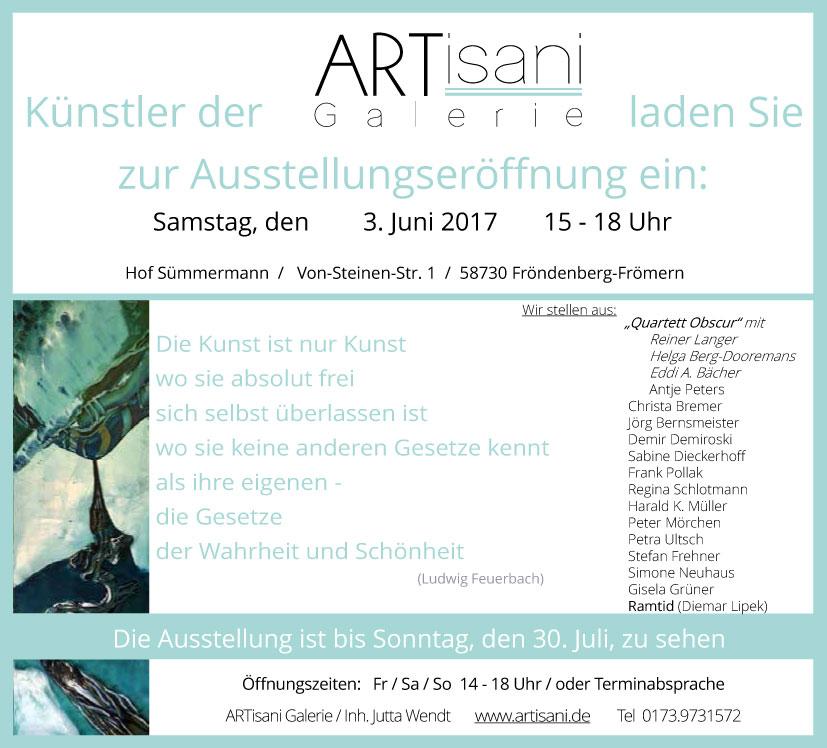 Ausstellungseröffnung ARTisani Galerie