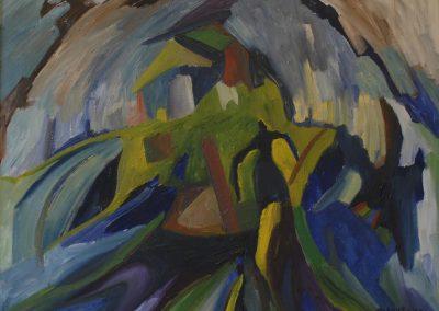 100 x 100 cm, 1996, Öl auf Leinwand, Privatbesitz