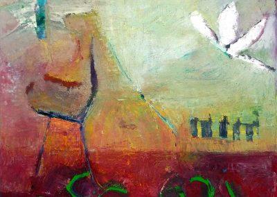 60 x 60 cm, 2014, Öl auf Leinwand, Privatbesitz