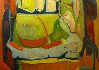 100 x 100 cm, 2014, Öl auf Leinwand